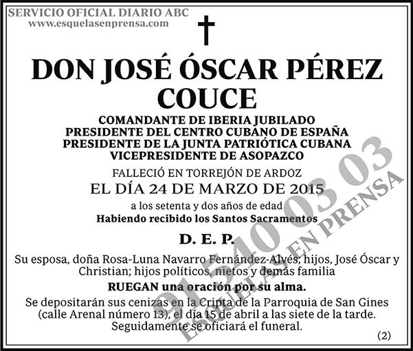 José Óscar Pérez Couce